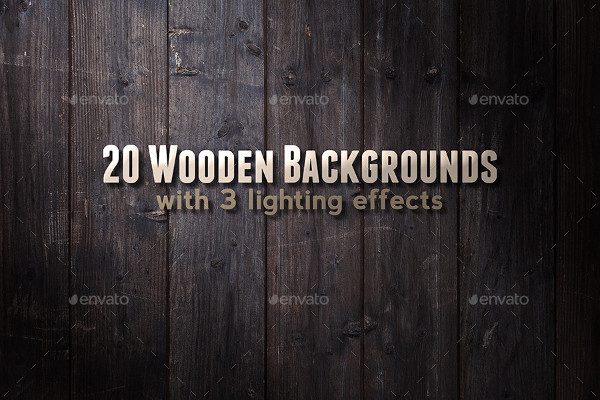 20 Wooden Backgrounds with Lighting Effects