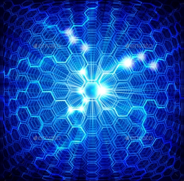 Abstract Blue Backgrounds with Hexagons