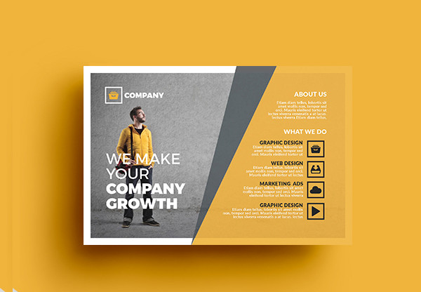 Business Agent Postcard Template