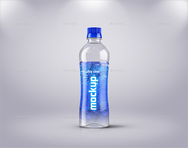 Ultra Clear Water Bottle Labels Template