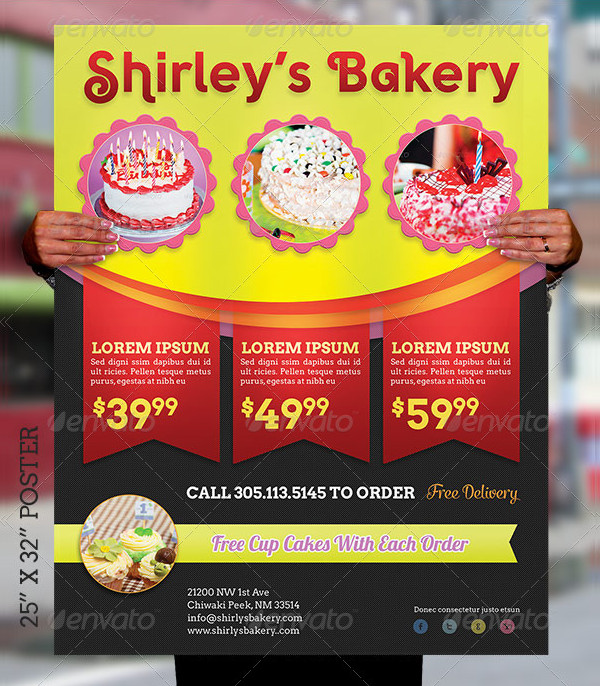 Bakery Cake Flyer & Poster Template