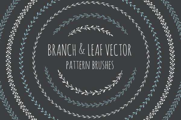 Branch & Leaf Illustrator Brush Pack