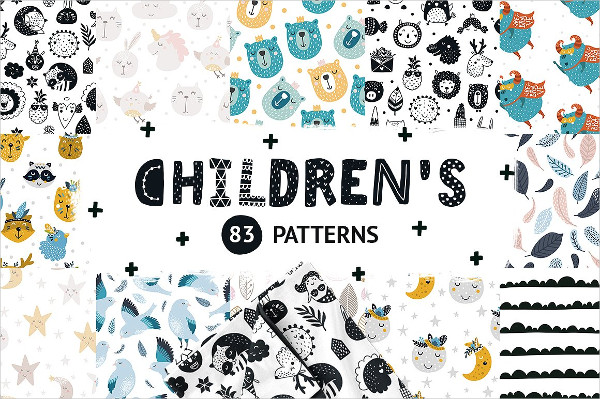 Cute Bundle of Seamless Patterns for Kids
