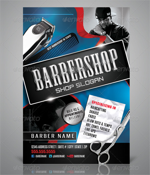 Print Ready Barbershop Flyer Design