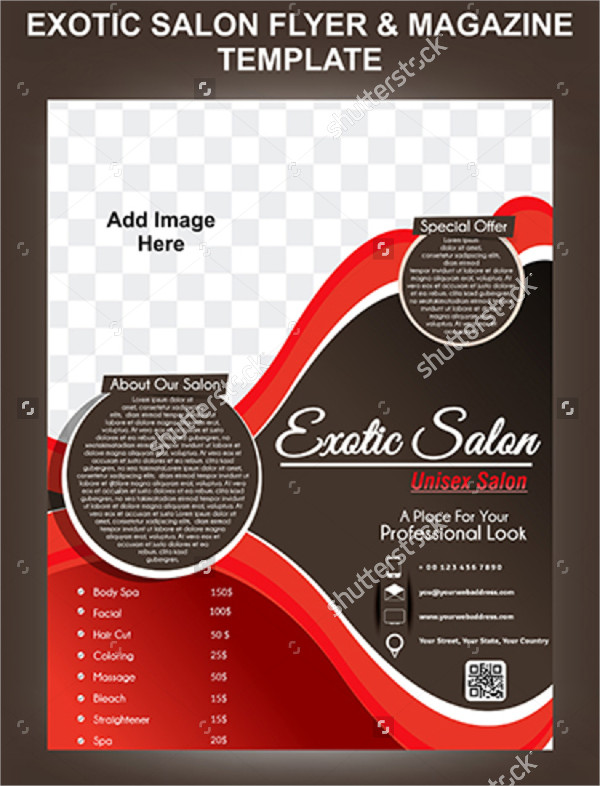 Exotic Salon Flyer & Magazine Design Template