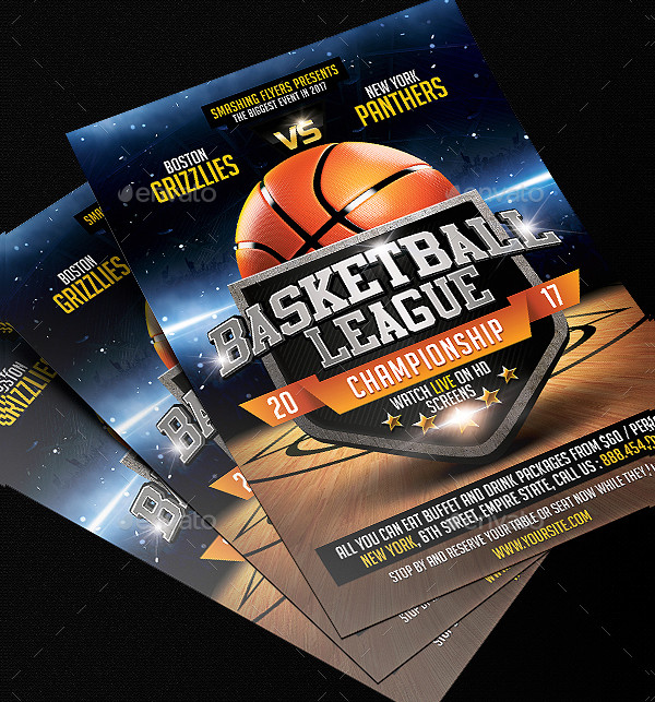 Editable Basketball Lessons Flyer Template