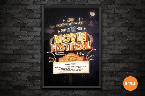 Easy to Edit Movie Festival Poster