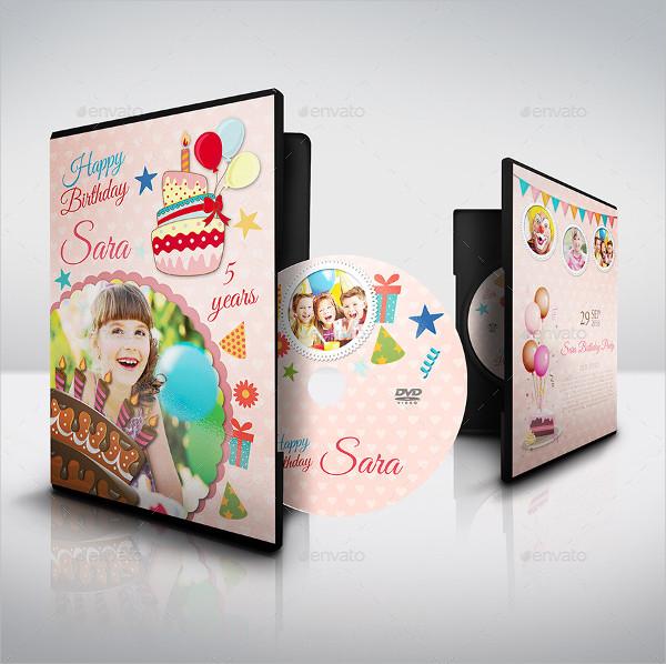 Elegant DVD Label Template