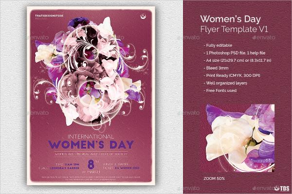 Elegant Womens Day Flyer Template