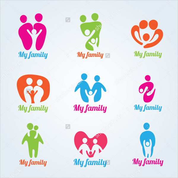 My Family People Modern Logo Vector Design