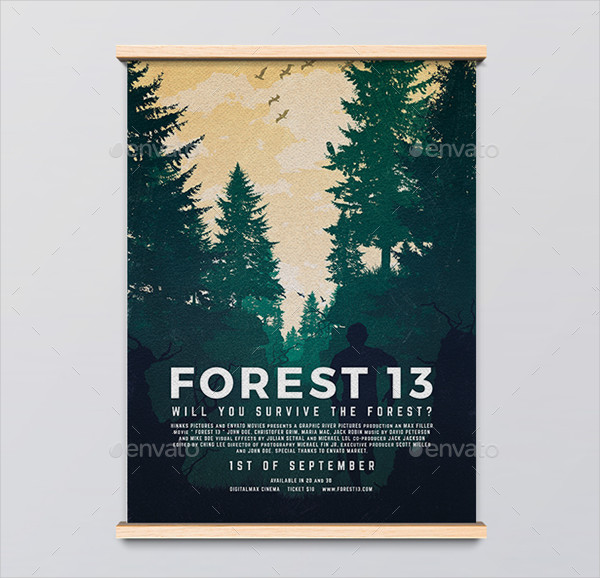 Forest 13 Movie Poster Template
