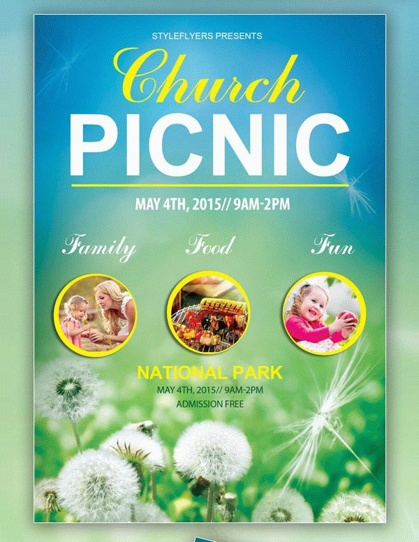 Free Church Picnic Flyer Template