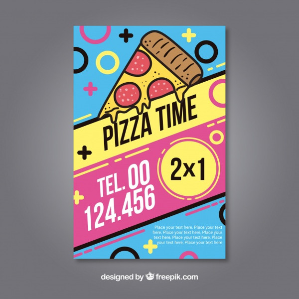 Free Colorful Flyer of Pizza