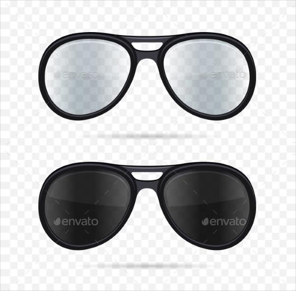 Glasses Set on Transparent Background