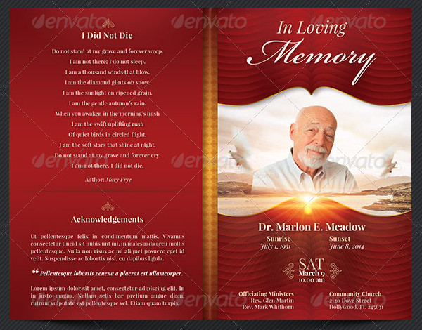 Modern Commemorative or Home Going Service Template