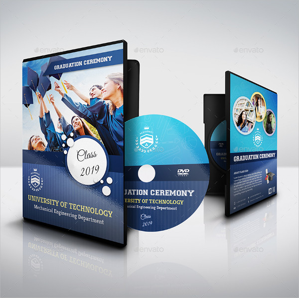 Graduation Ceremony DVD Cover and Label Design