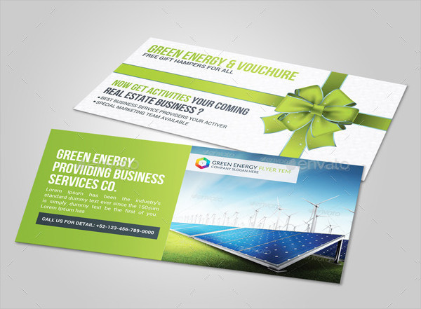 Green Energy Business Gift Card Voucher