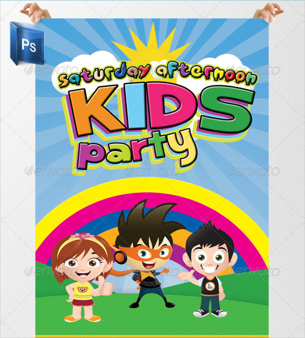 Kids Birthday Party Posters Bundle