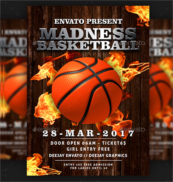 Basketball Madness Flyer Template