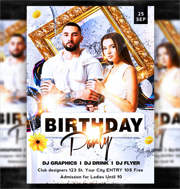 Modern Birthday Flyer Template