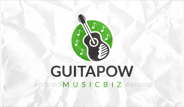 Modern Guitar Logo Design