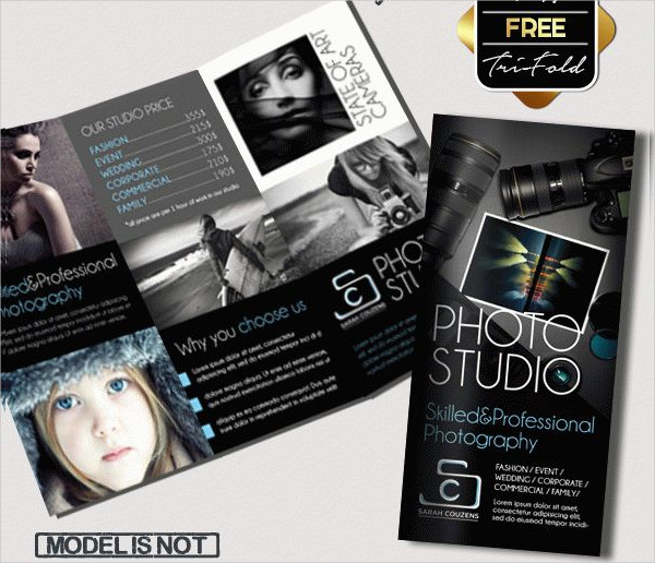 Photographer Free Tri-Fold Brochure Template