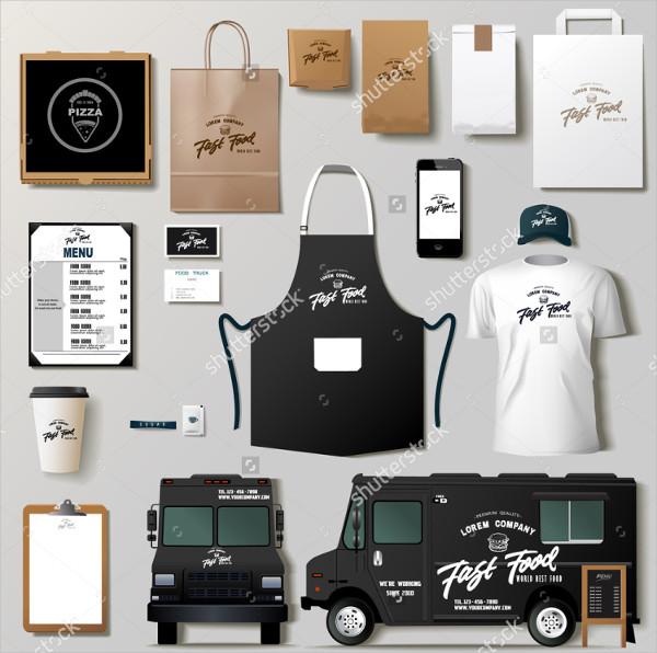 Vector Food Truck Corporate Identity Templates Design