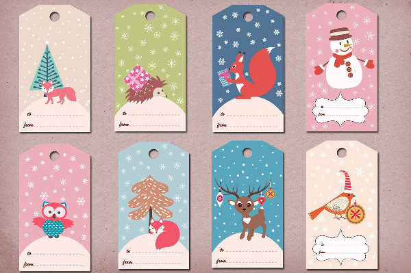 Printable Winter & Christmas Gift Tags