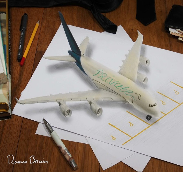 Private Airplane 3D Drawing Free