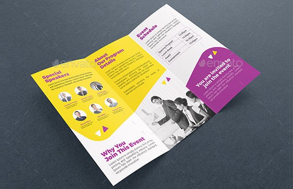 Professional Conference Tri-Fold Template
