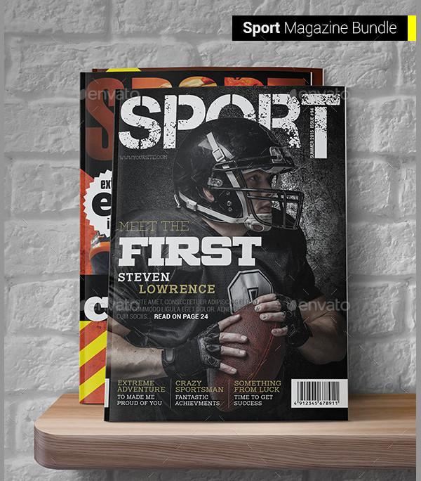Professional Sports Magazine Templates Bundle