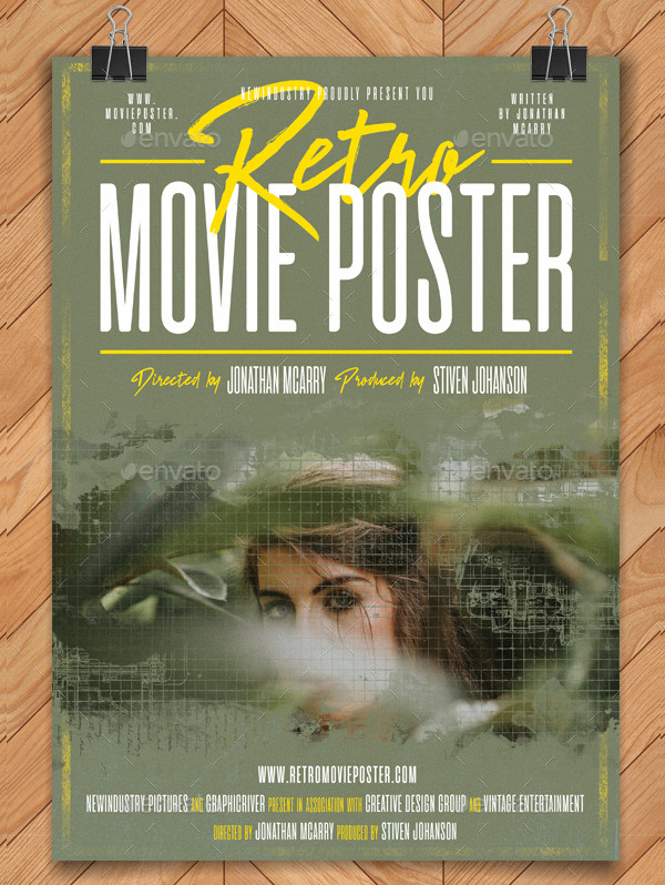 Retro Movie Poster Template