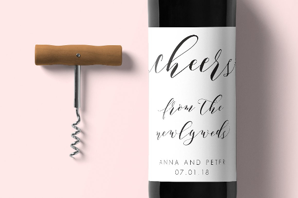 Wine Labels with Editable PDF