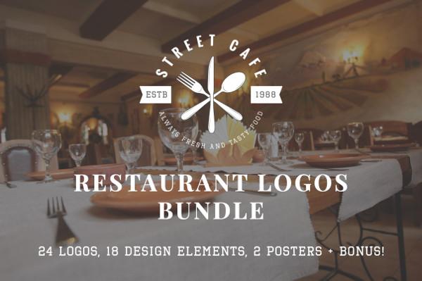 Set of Vintage Restaurant Logo Templates