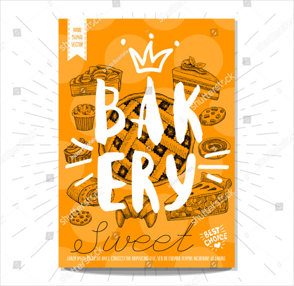 Stylish Bakery Poster Template