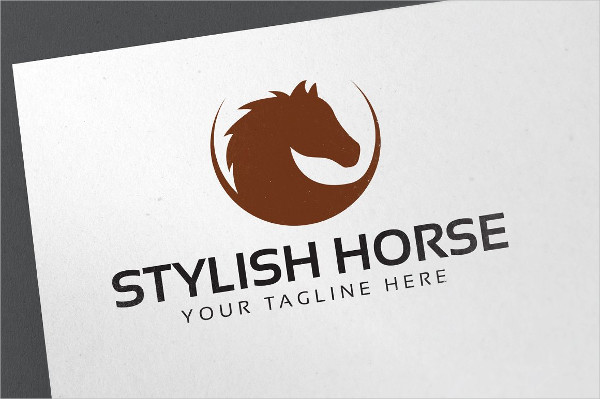 Stylish Horse Club Logo Template