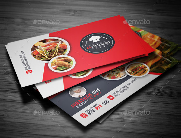 Stylish Restaurant Business Card Template