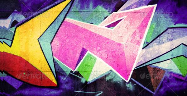 Retro Urban Graffiti Backgrounds