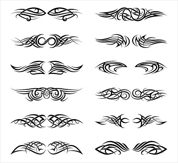 Vector Tribal Tattoos Pattern