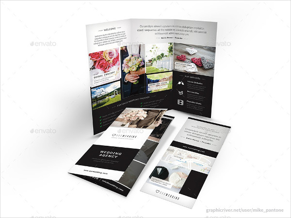 Wedding Agency Trifold Brochure Template
