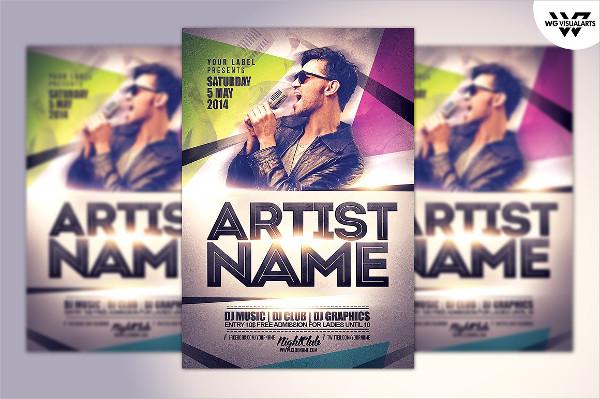 Artist & DJ Flyer Template