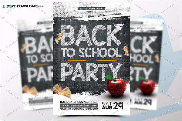 Back To School Party Flyers Template