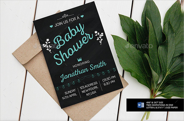 Beautiful Chalkboard Invitations Design