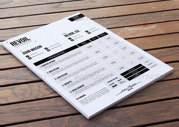 Business Custom Invoice Template