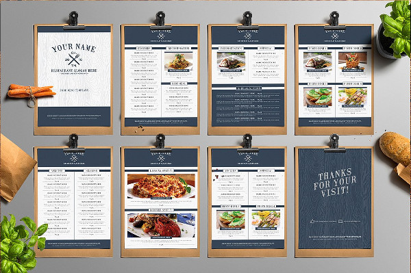 Classy Food Menu Templates for your Restaurant