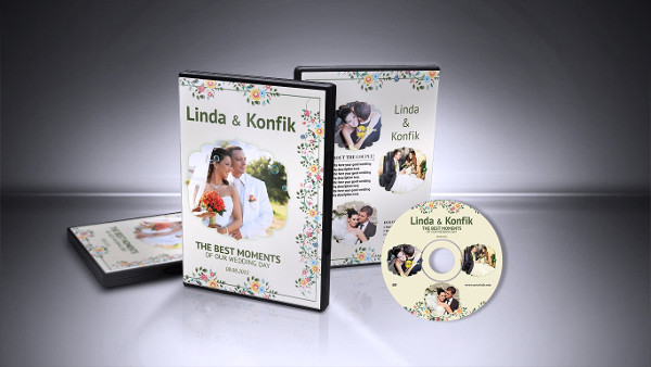 Wedding Video DVD Cover Design