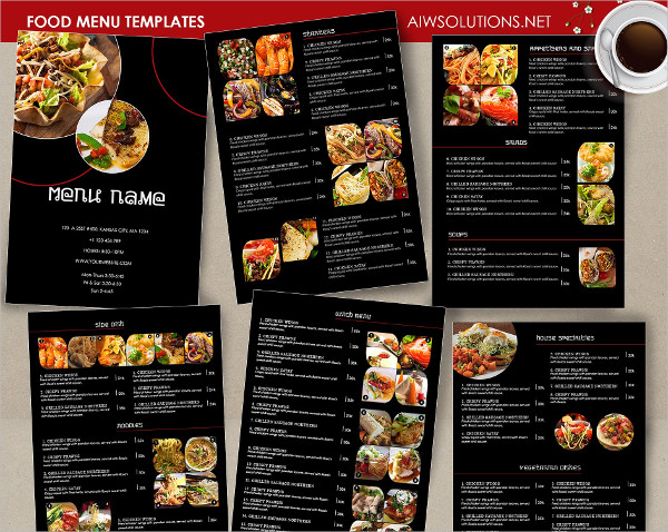 Clean Food Menu Templates