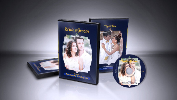 Corporate Design Wedding DVD Cover & CD Label