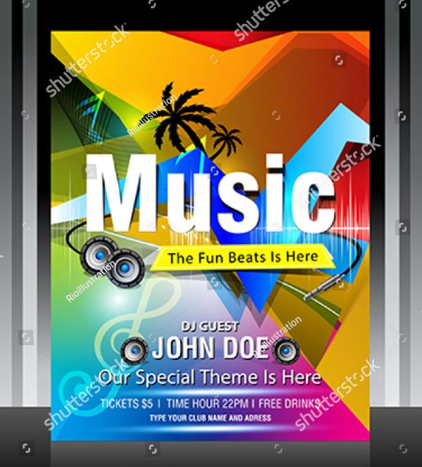 DJ Fest Flyer Design Template