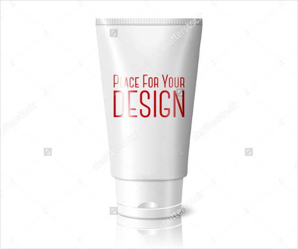 Blank White Realistic Tube for Cosmetics